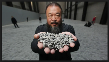 Ai Wei Wei at the Tate with Sunflower Seeds